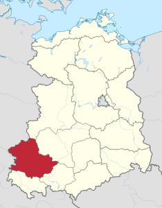 Karte vom Bezirk Erfurt
