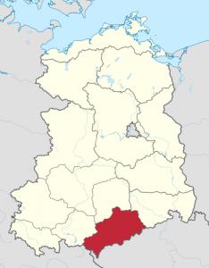 Karte vom Bezirk Karl-Marx-Stadt