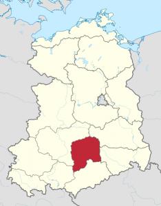 Bezirk Leipzig Karte