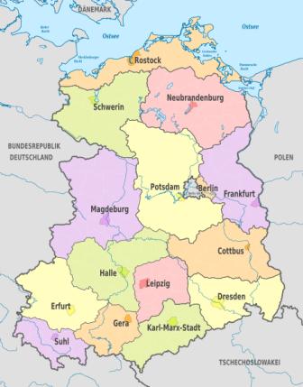 DDR Bezirke